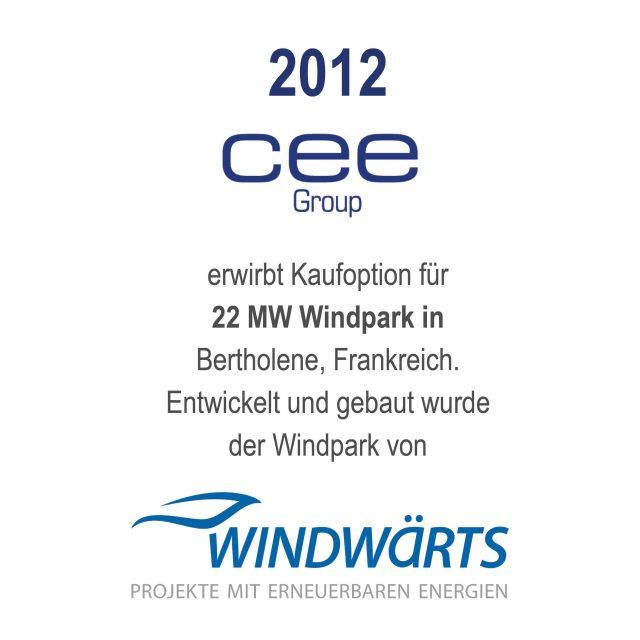 Windfarm Bertholen, Frankreich