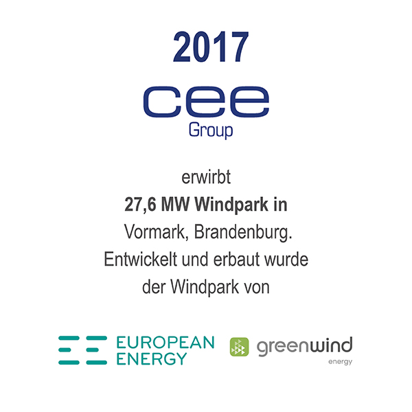 Windpark Vormark, Brandenburg