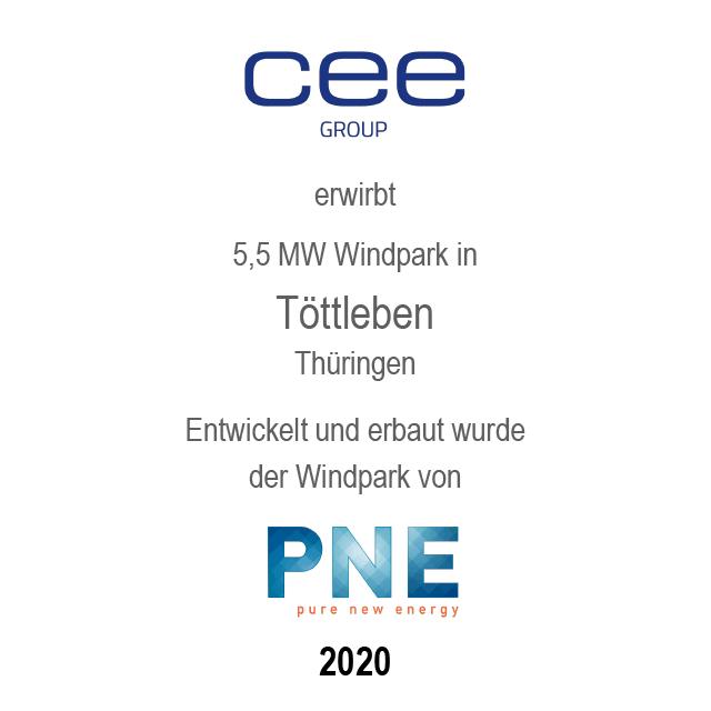 Windpark Töttleben, Thüringen